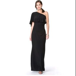 NWT Women's Chaps One-Shoulder Evening Gown